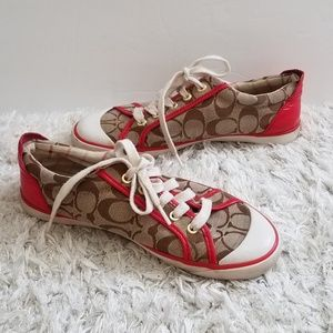 Coach Barrett Monogrammed Lace Up Sneakers